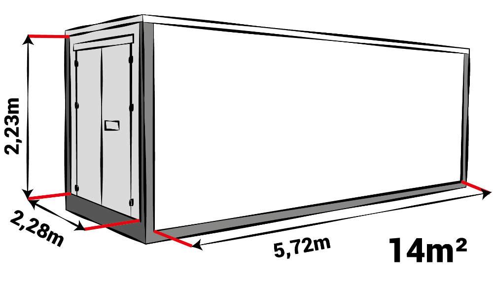 Afmeting Opslag box