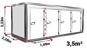 Opslagbox B 3.5m2