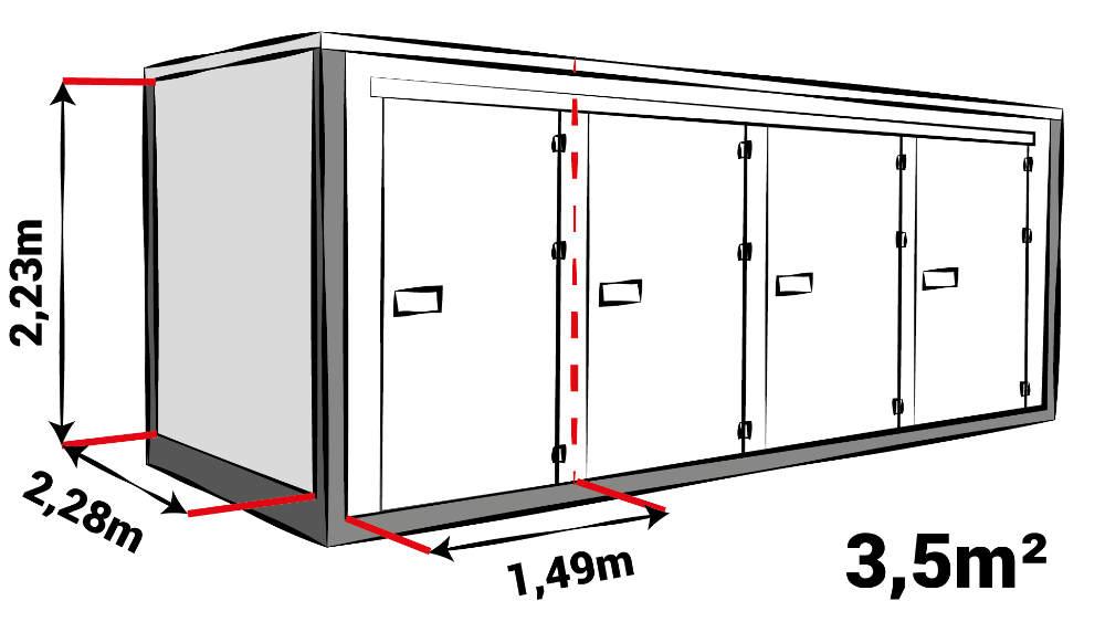 Indicatie grootte boxen zelhem